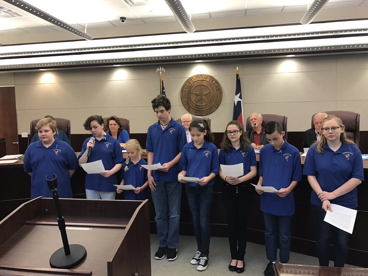 The Honor Choir reads the 2017 proclamation